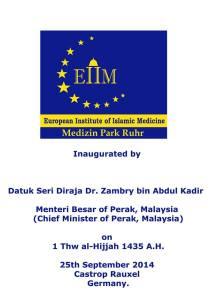 Inauguration board of EIIM